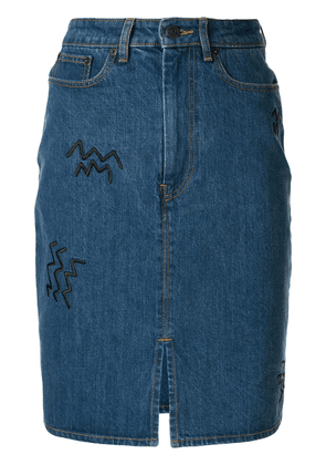 Être Cécile high waisted denim skirt - Blue
