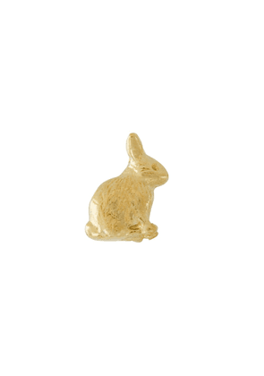 Alex Monroe 18kt yellow gold Teeny Tiny Sitting Bunny stud earrings