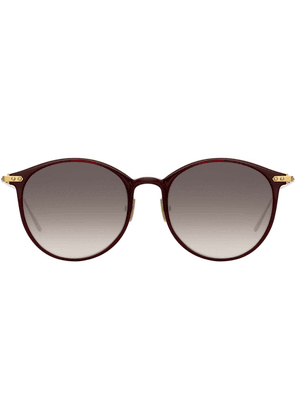 Linda Farrow oversized frame sunglasses - Red