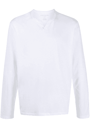 Majestic Filatures notched crew neck T-shirt - White