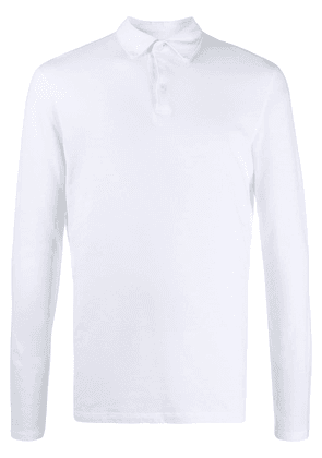 Majestic Filatures long sleeved polo shirt - White