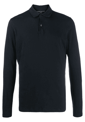 Majestic Filatures long sleeved polo shirt - Blue