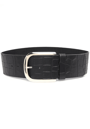 Erika Cavallini crocodile-embossed leather belt - Black