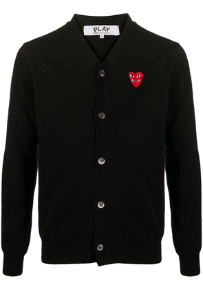 Comme Des Garçons Play heart logo button-down cardigan - Black