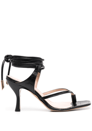 Gia Couture tie-fastening ankle strap sandals - Black