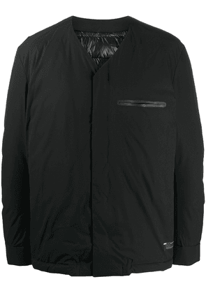 Attachment collarless padded jacket - Black