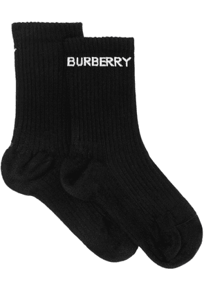 Burberry ribbed logo socks - Black