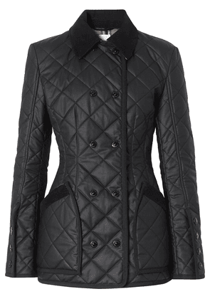 Burberry diamond quilted waxed cotton jacket - Black