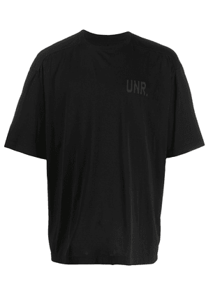 UNRAVEL PROJECT CDG LAX print T-shirt - Black