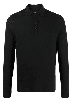 Majestic Filatures long sleeved jersey polo shirt - Black