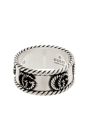 Gucci GG Marmont braided-detail ring - SILVER