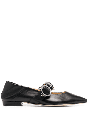 Giannico Betty pointed brogues - Black
