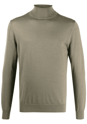 Closed roll-neck fine-knit jumper - Grey