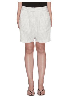 Pinstripe relaxed fit shorts