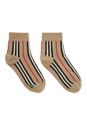 Burberry Beige Vertical Stripe Socks