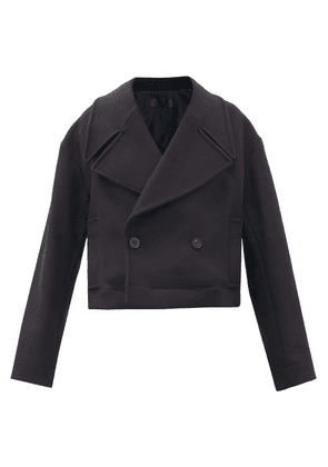 Haider Ackermann - Caban Double-breasted Wool-blend Coat - Womens - Black