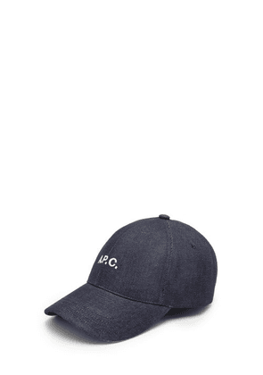 A.P.C. - Charlie Logo-embroidered Denim Baseball Cap - Mens - Dark Blue