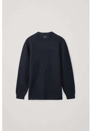 MERINO WOOL SWEATER WITH LEATHER DETAIL