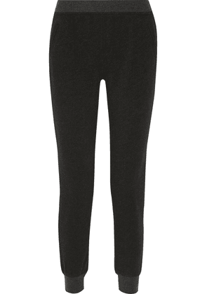 Atm Anthony Thomas Melillo French Cotton-blend Terry Slim-leg Pants Woman Anthracite Size L