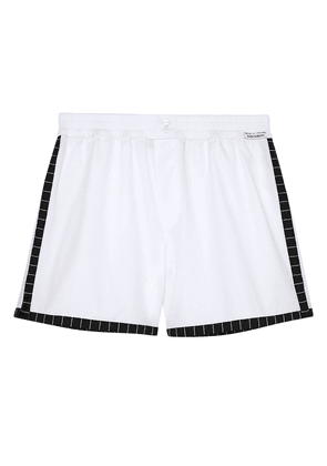 Dolce & Gabbana Striped Cotton-poplin Shorts Woman White Size V