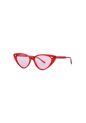 Cutler And Gross 1330 Red Cat-eye Sunglasses