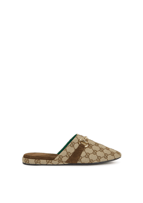 Gucci GG Flora Monogrammed Canvas Mules