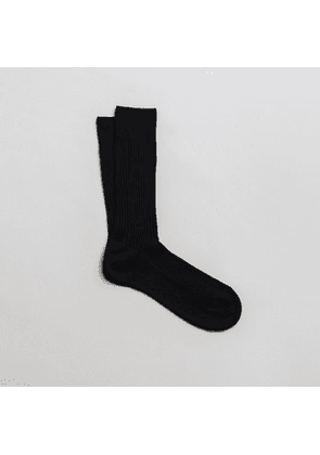The Ribbed Cotton Sock 3-Pack Black