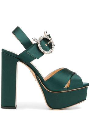 Charlotte Olympia Bejeweled Aristocrat sandals - Green