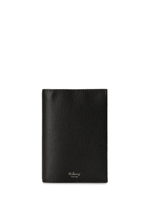 Mulberry pebbled-effect passport cover - Black