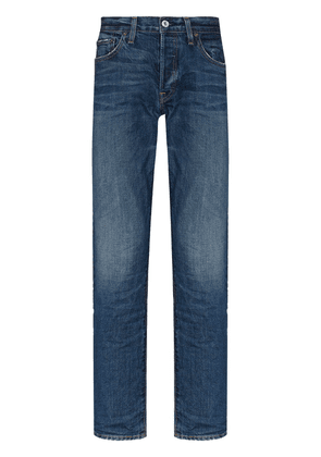 RE/DONE faded straight-leg jeans - Blue