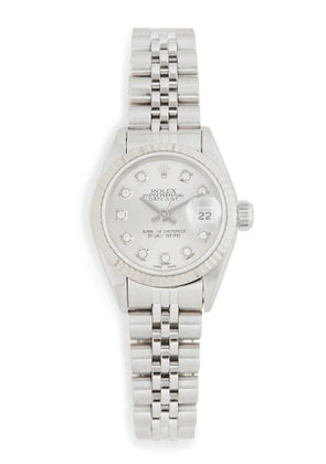 Pre-Owned Rolex Ladies Rolex Silver Diamond Dial, Fluted Bezel, Jubilee Band