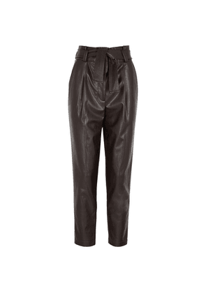 A.L.C. Cobey Brown Tapered Faux Leather Trousers