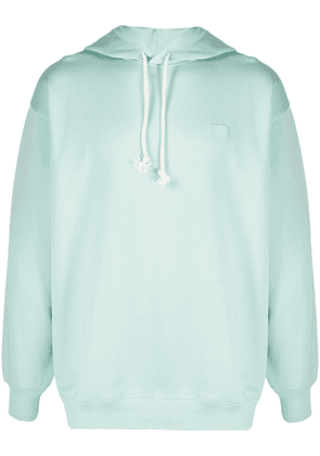 Acne Studios face-patch hoodie - Green