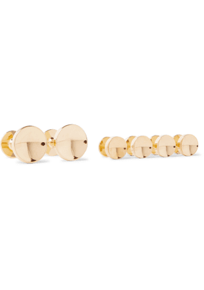 ALICE MADE THIS - Elliot Gold-Plated Cufflinks and Shirt Stud Set - Men - Gold