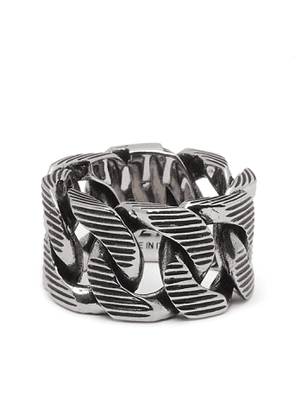 ALEXANDER MCQUEEN - Burnished Silver-Tone Ring - Men - Silver
