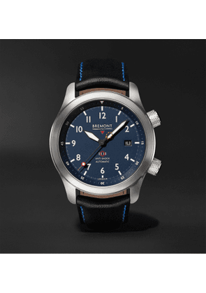 BREMONT - MBII Blue Automatic 43mm Stainless Steel and Leather Watch, Ref. MBII-SS-BL-C-B-P-13R - Men - Blue