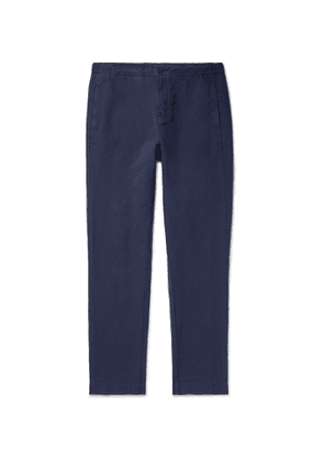 Orlebar Brown - Ackens Linen and Cotton-Blend Drawstring Trousers - Men - Blue
