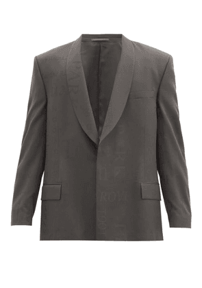 Martine Rose - Shawl-lapel Jacquard-woven Wool Jacket - Mens - Grey