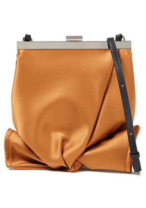 3.1 Phillip Lim Estelle Mini Leather-trimmed Satin Shoulder Bag Woman Camel Size --