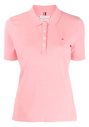 Tommy Hilfiger embroidered logo polo shirt - PINK