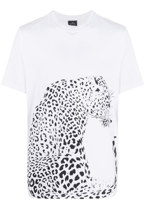 PS Paul Smith animal-print short-sleeved T-shirt - White