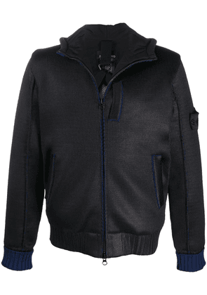 Stone Island Shadow Project exposed-seam hooded jacket - Blue
