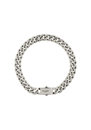 Saint Laurent curb chain necklace - Silver
