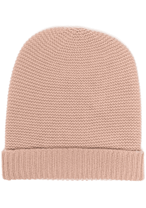 N.Peal knitted cashmere beanie - PINK