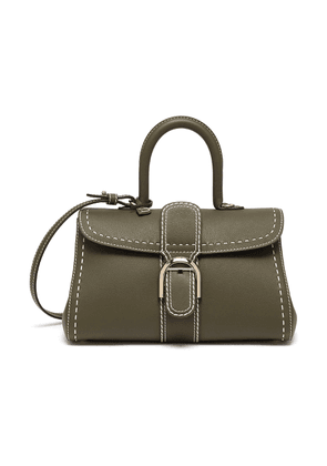 Brilliant East West PM Rodéo Surpiqué contrast stitch leather satchel