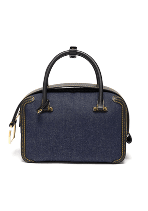 'Cool Box' denim satchel