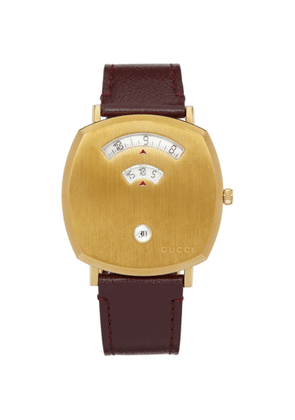 Gucci Gold and Brown Grip Watch