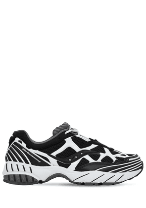 White Mountaineering Grid Web Sneakers