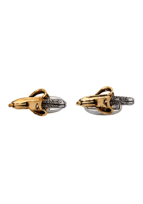Paul Smith Silver and Gold Banana Cufflinks