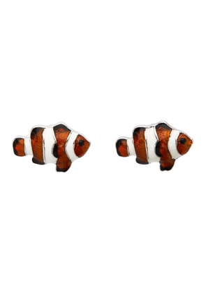 Paul Smith White and Orange Tropical Fish Cufflinks